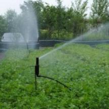 o sistema de irrigação